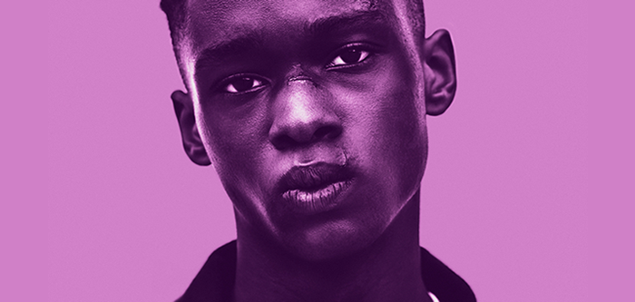 Photo of Ashton Sanders as Chiron in Moonlight.