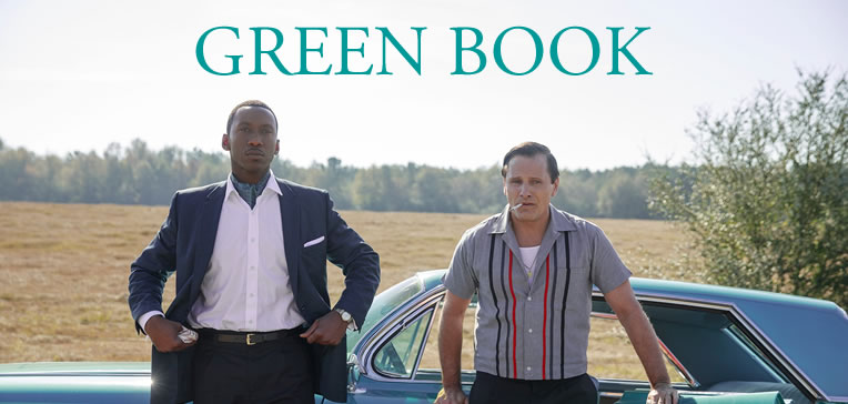 "Green Book [Blog Feature Image: Shows Viggo Mortensen as Frank ""Tony Lip"" Vallelonga and Mahershala Ali as Dr. Don Shirley]"
