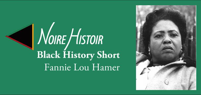 Blog post feature image showing Fannie Lou Hamer portrait.