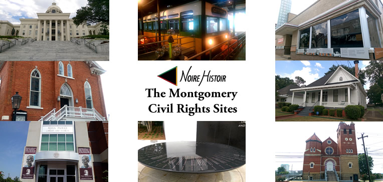 Feature image depicting the various civil rights sites discussed in this blog post.