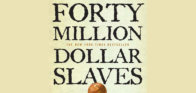 Feature image comprised of art work from the Forty Million Dollar Slaves book cover.