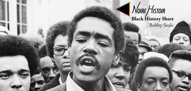 Blog feature image depicting Bobby Seale speaking with a crowd gathered around him.