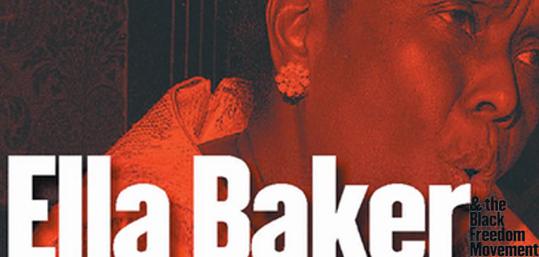 Ella Baker & The Black Freedom Movement feature image based on the book's cover art which is a portrait of Ella Baker speaking.