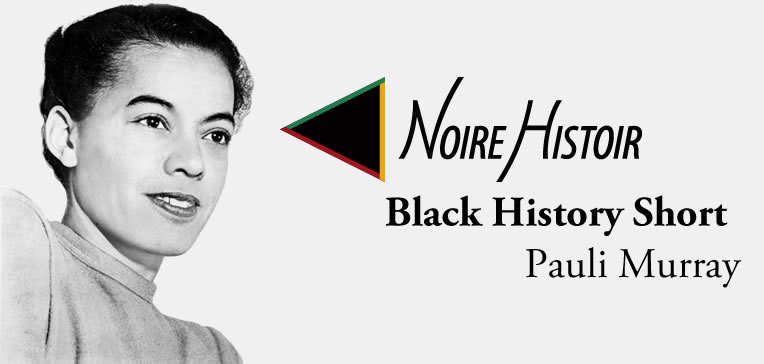 Blog post feature image depicting a profile portrait of Pauli Murray set against a light background.