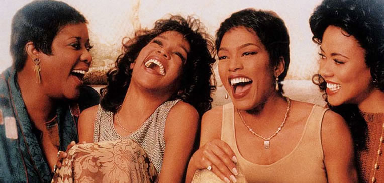 Waiting to Exhale feature image depicting Angela Bassett, Lela Rochon, Loretta Divine, and Whitney Houston.