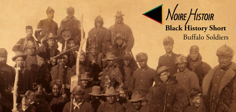 Blog post feature image depicting a sepia tone photo of the Buffalo Soldiers.