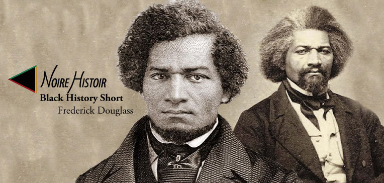 Blog post feature image depicting two portraits of Frederick Douglass as a young man and older man.