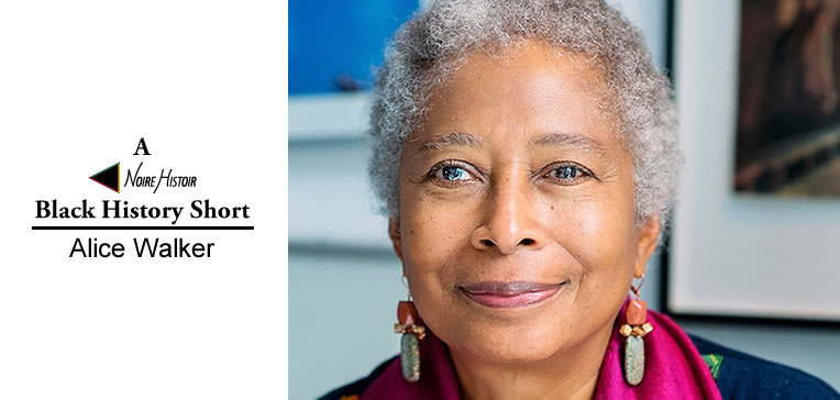 Portrait of a smiling Alice Walker.