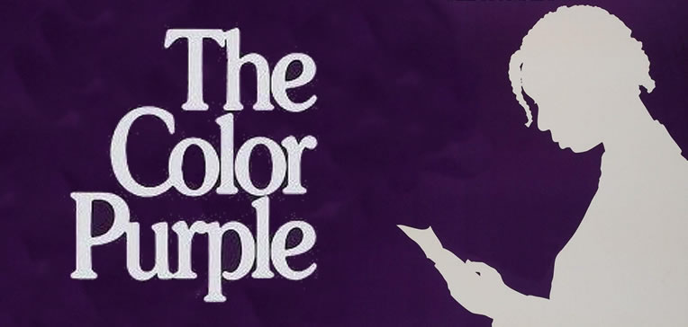 The Color Purple feature image based on the movie's poster depicting a silhouette of Celie.