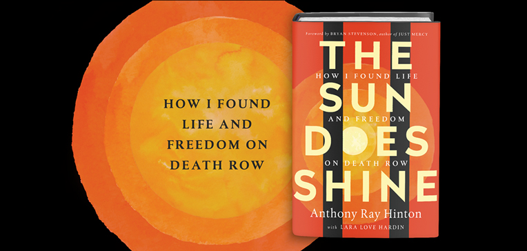The Sun Does Shine book cover and cover art against a black background.