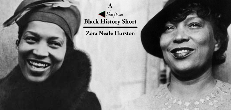 Portraits of Zora Neale Hurston from her early and later life.
