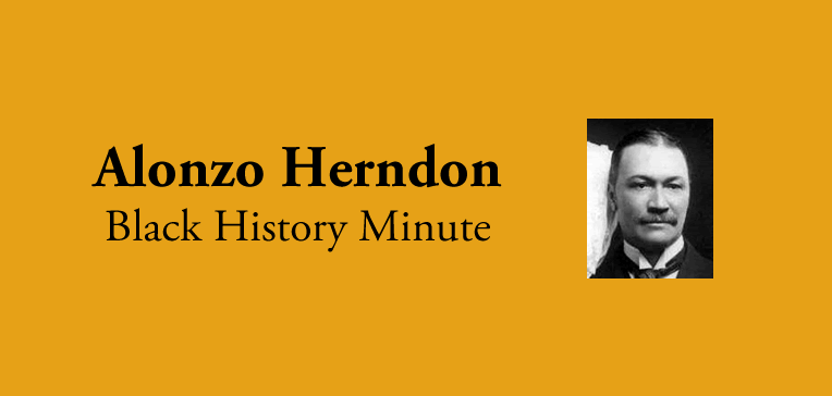 Feature photo of Alonzo Herndon along with title text.