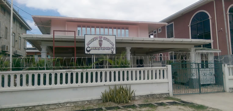 The exterior of the Guyana Museum of African Heritage