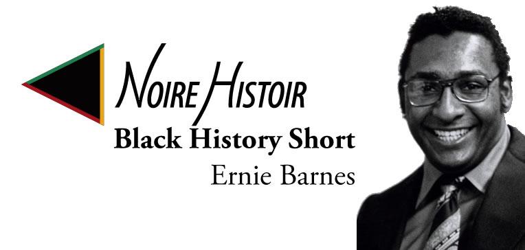 Blog feature image depicting a portrait of Ernie Barnes.