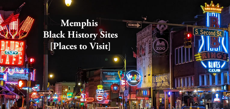 A night time photo of Memphis' famed Beale Street.