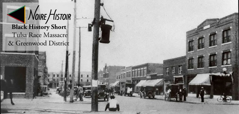 A historical photo of Tulsa's Greenwood District.