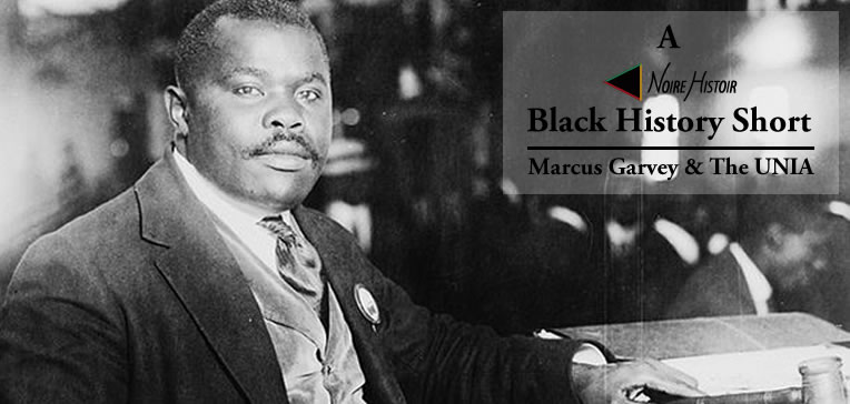 A portrait of Marcus Garvey, founder of the UNIA.