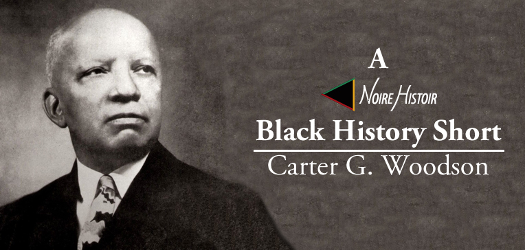 Black and white portrait of Carter G. Woodson.