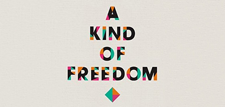 A Kind of Freedom book cover branding.