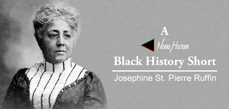 A black and white portrait of Josephine St. Pierre Ruffin.