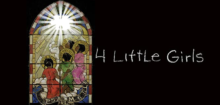 4 Little Girls stained glass artwork depicting the four girls as ascending angels.