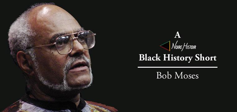 Color portrait of Bob Moses set against a black background.