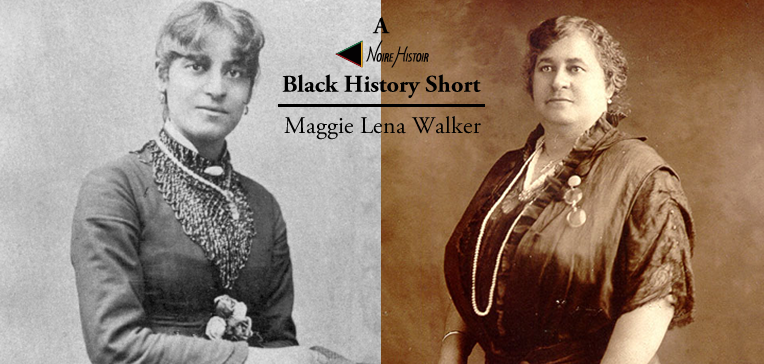 Portraits of Maggie Lena Walker from her early and later life.